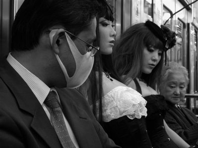 Doll on Train Monochrome (24)