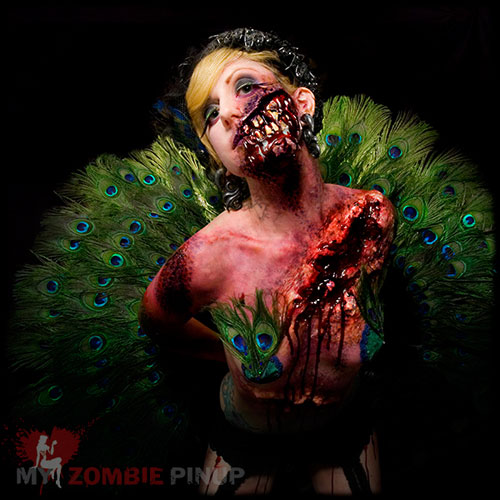pin up zombie makeup. behind My Zombie Pin-Up